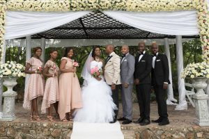 kundai-and-ralph with their bridesmaids and groomsmen on their wedding day - wedding expos africa - real african weddings