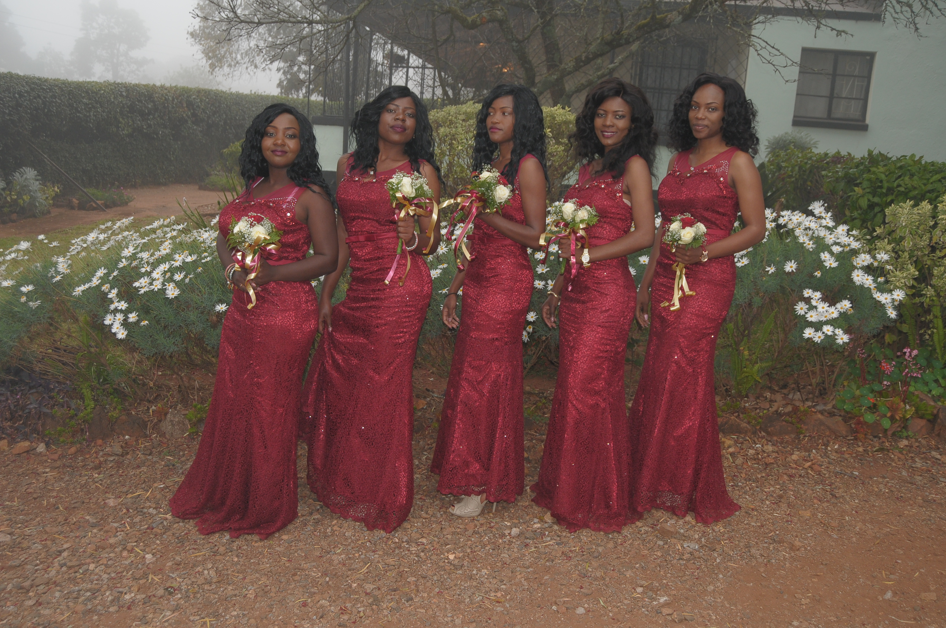 Takudzwa Jacobs and Alphinah Makotose's bridal team