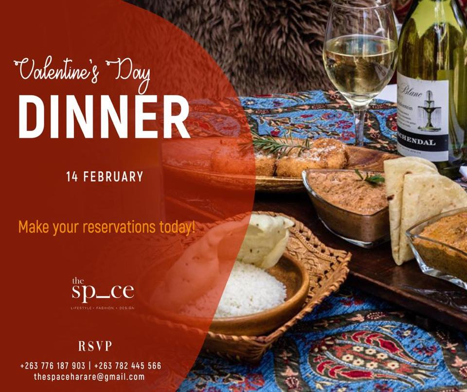 The Space Harare valentine's day dinner - Wedding expos africa