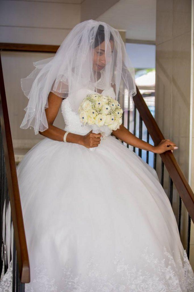Kudzai Zengeya in her beautiful wedding dress - real zimbabwe weddings online
