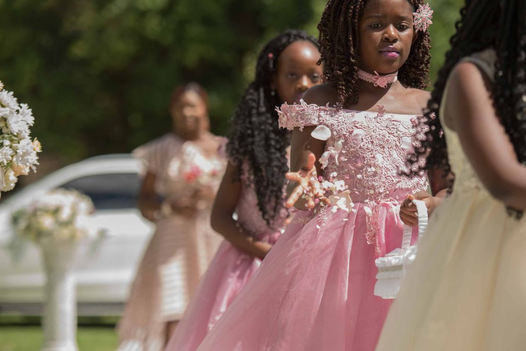 Mini brides entrance - kundai mendissa dube and ralph kangai wedding - Real Zimbabwe weddings photos - African Weddings on Wedding Expos Africa