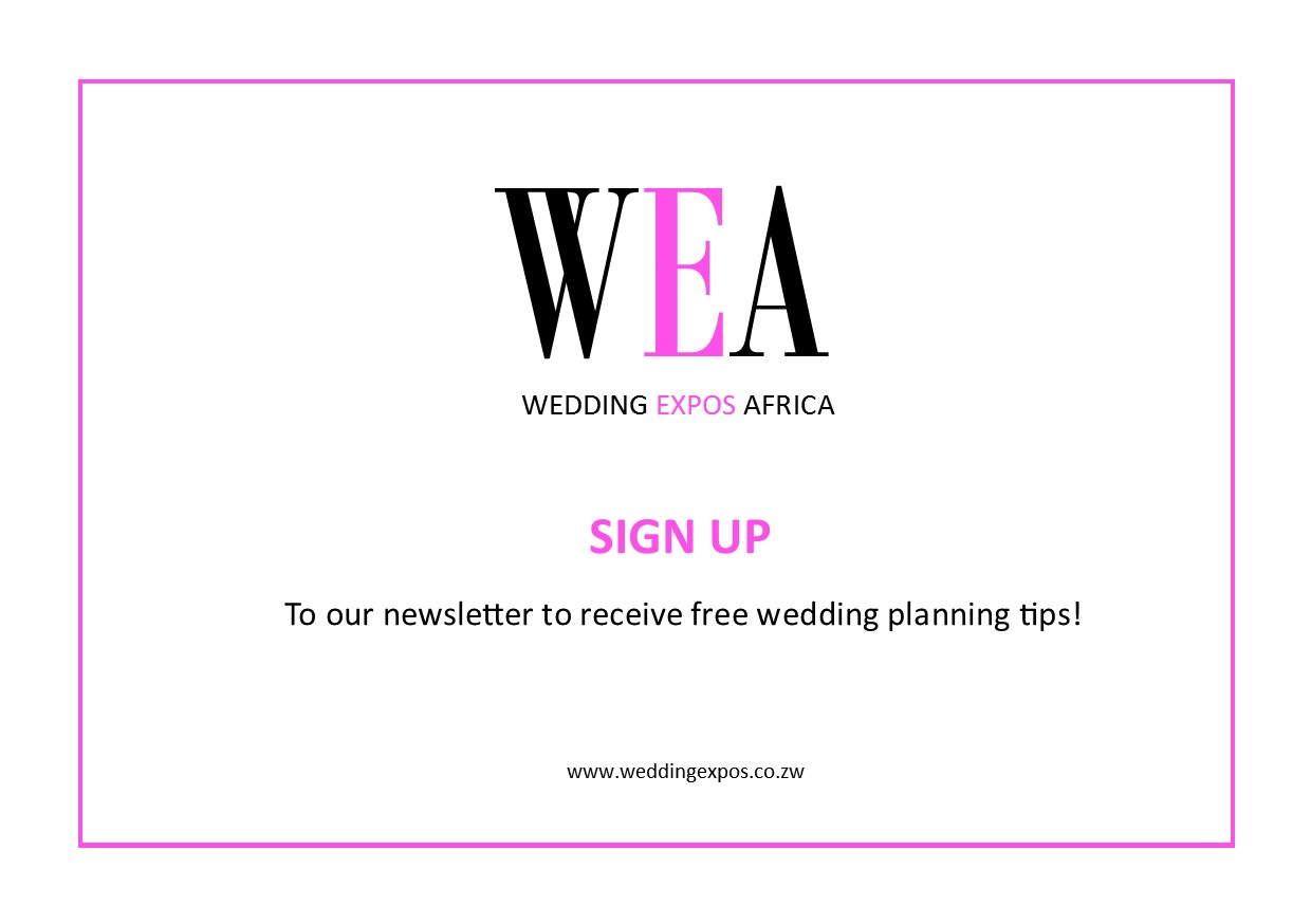 Sign Up to the Wedding Expos Website and receive free wedding tips straight to your inbox!
