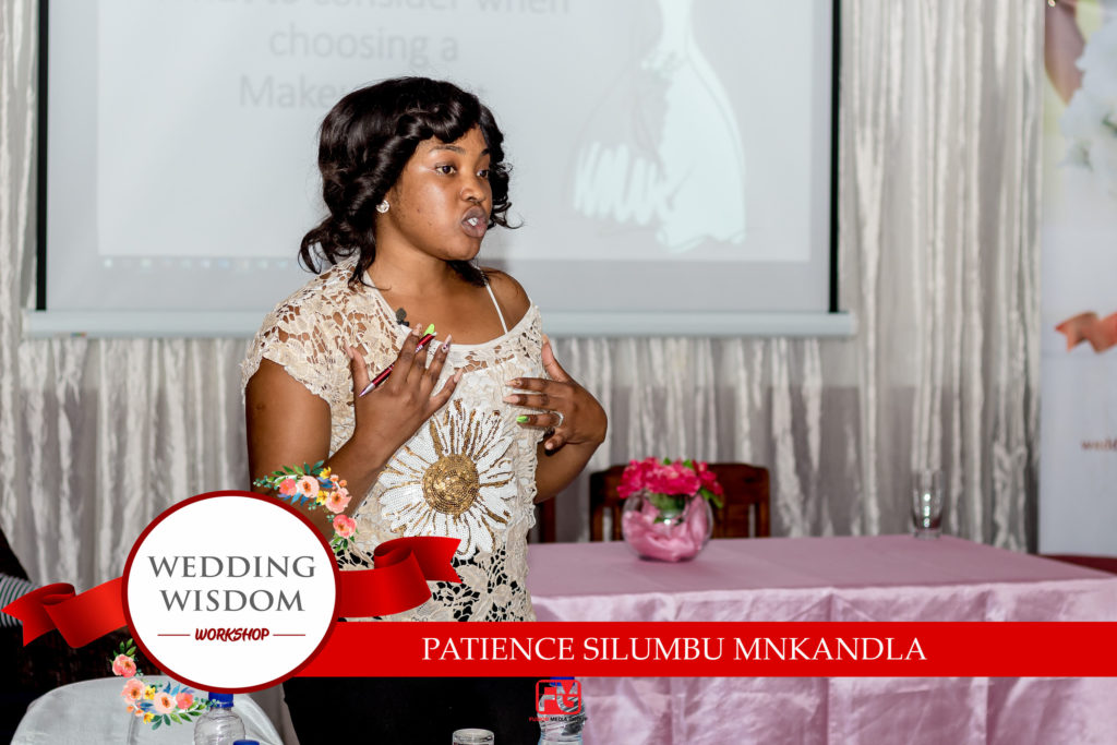 Patience Silumbu Mnkandla of Makeup ya Patiey at the Bulawayo wedding wisdom workshop 2019 held at Lalani Hotel - Zimbabwe wedding expos - African wedding expos - Bulawayo wedding makeup
