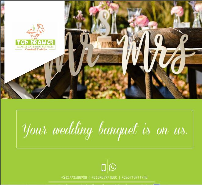 Top Drawer catering Wedding Banquets -Zimbabwe wedding caterers - Harare wedding caterers - Zimbabwe weddings